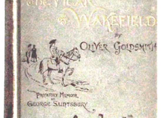 Oliver Goldsmith The Vicar of Wakefield 1889 Front Board