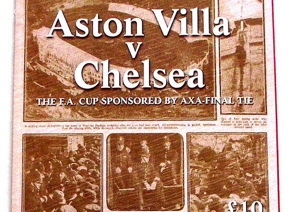 Aston Villa F.C. v Chelsea F.C. FA Cup Final Football Programme 20th May 2000