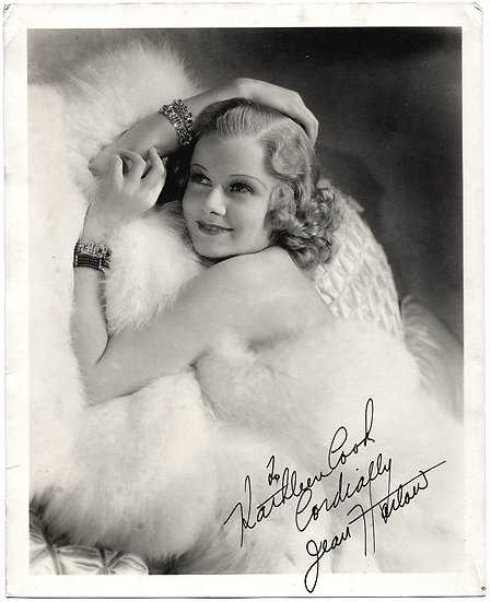 Jean Harlow Signed Photograph Signed by 'Mama Harlow'
