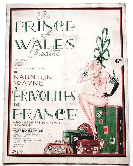 London's Follies Bergere Theatre Programme 1938