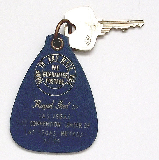 Elvis Presley's Personally Used Hotel Room Key from Las Vegas circa 1969
