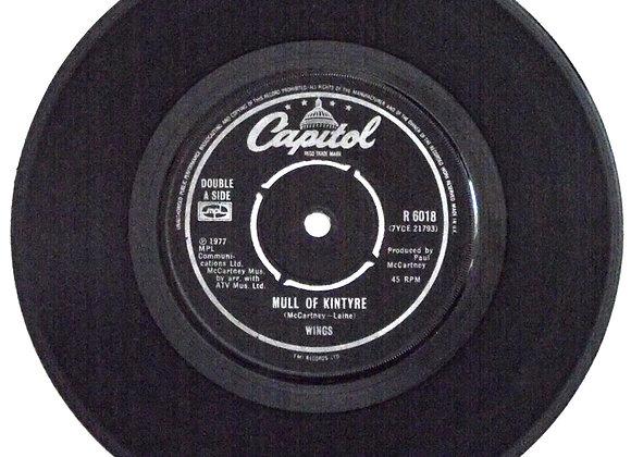Paul McCartney and Wings Mull of Kintyre Single 1977