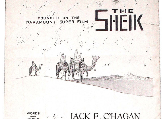 Rudolph Valentino In Dreamy Araby The Sheik Sheet Music 1921