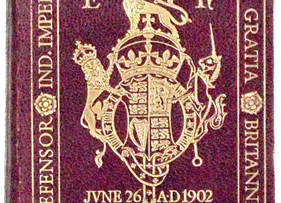 King Edward VII Order of Service Coronation of 1902