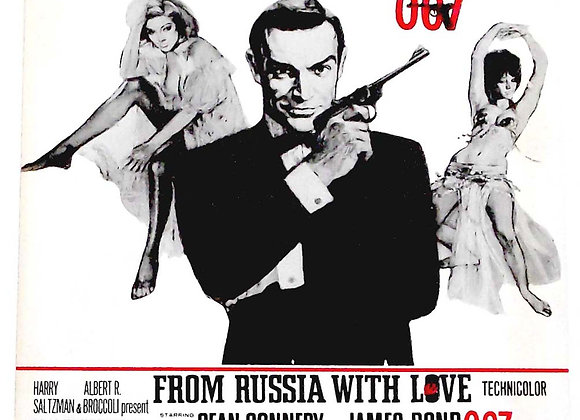 James Bond Theme From Russia With Love Sheet Music circa 1970's