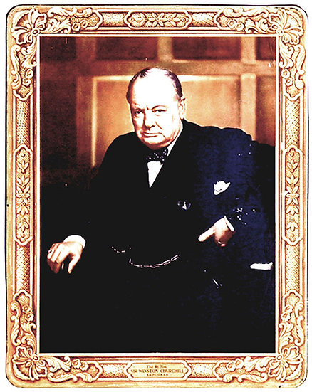 Huntley and Palmers Sir Winston Churchill Biscuit Tin1956