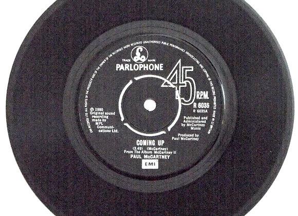 Paul McCartney Coming Up Single 1980