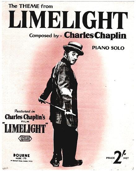 Charlie Chaplin Limelight Film Sheet Music 1953