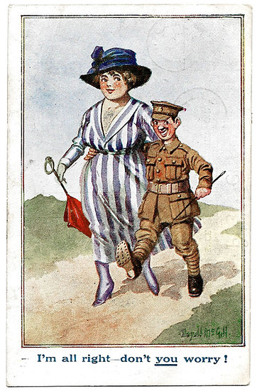 Collection 14 Donald McGill First World War and Comique Postcards