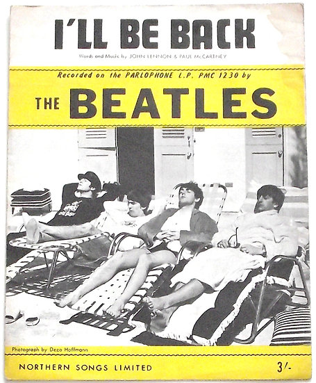 The Beatles I'll Be Back Sheet Music 1964