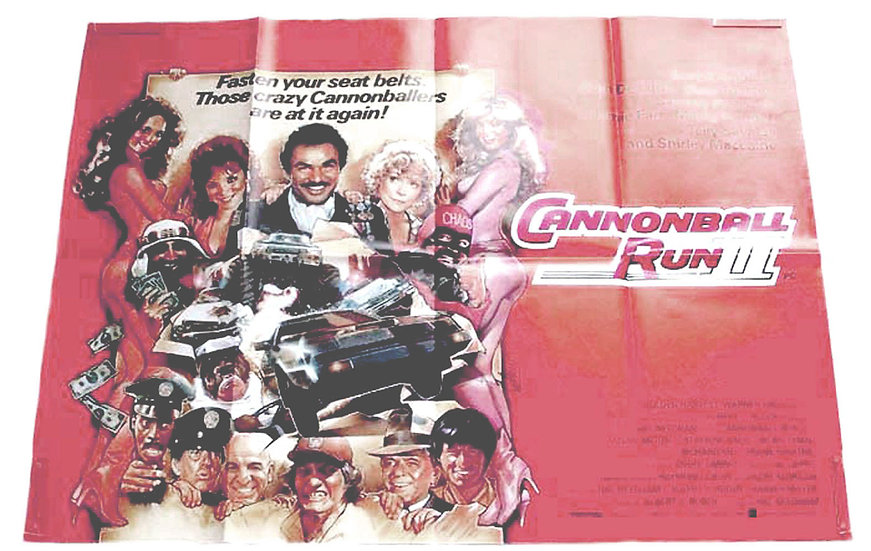Cannonball Run II British Quad Film Poster 1984