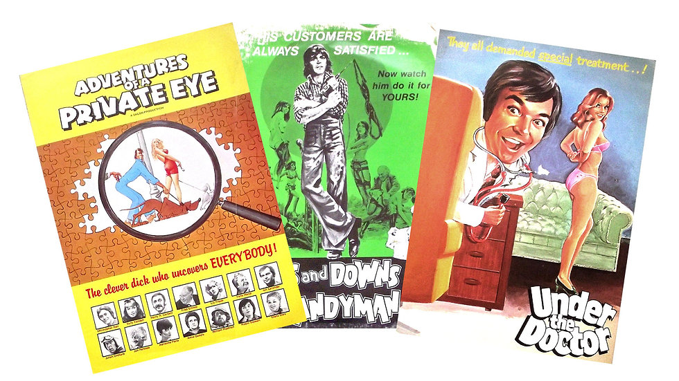 Collection of 3 1970's British Saucy Film Campaign Books