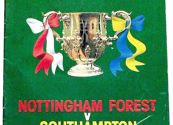 Nottingham Forest v Southampton F.C. Football League Cup Final Programme 1979