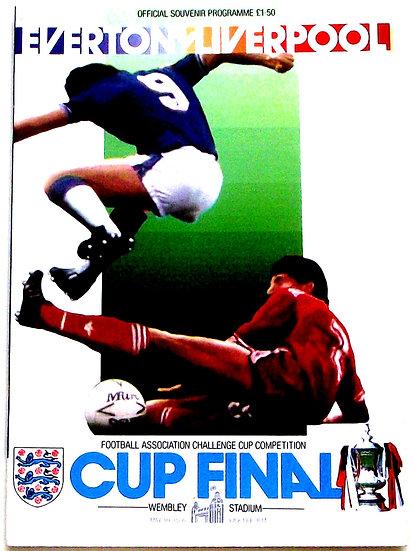 Everton F.C. v Liverpool F.C. FA Cup Final Programme 1986