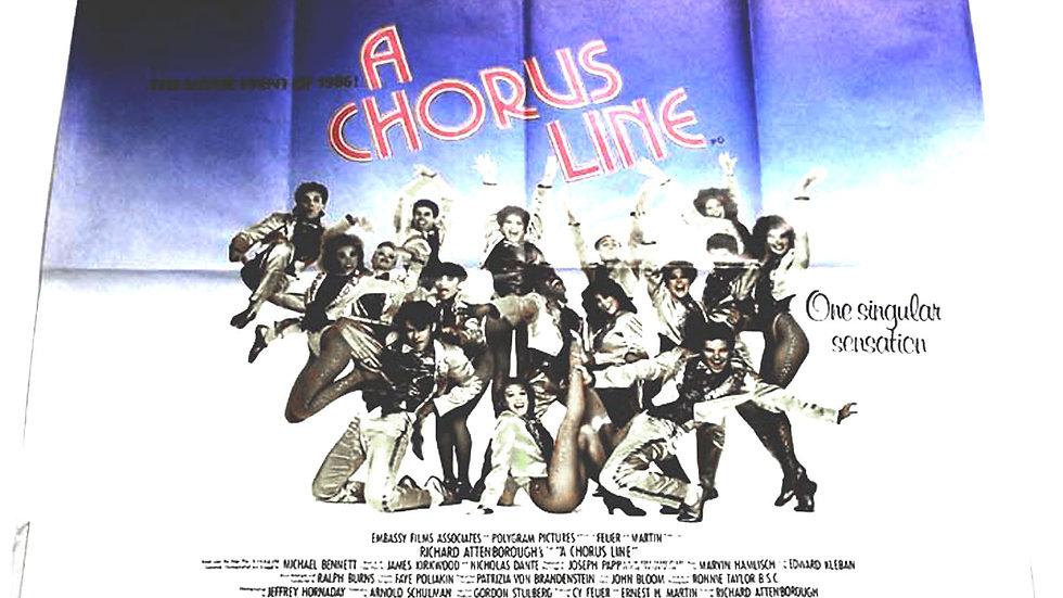 A Chorus Line British Quad Film Poster 1985