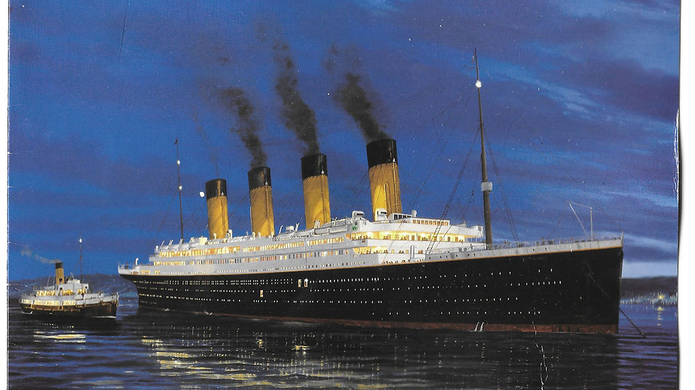 Titanic Greetings Card Autographed by Millvina Dean