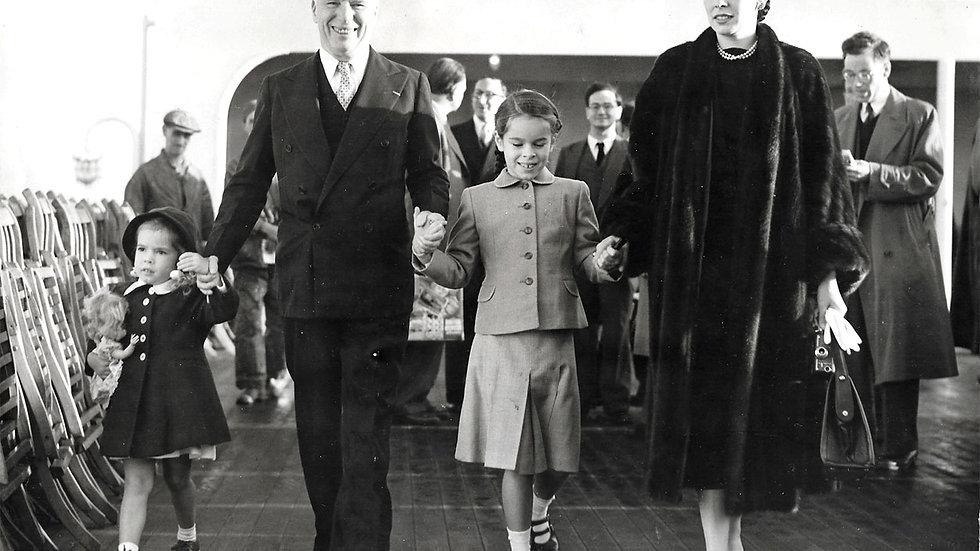 Charlie Chaplin Press Photograph Arriving at Southampton 1952