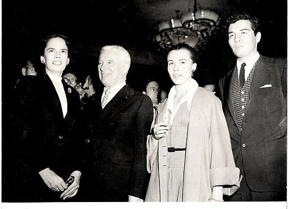Charlie Chaplin 1952 Press Photograph at The Savoy London