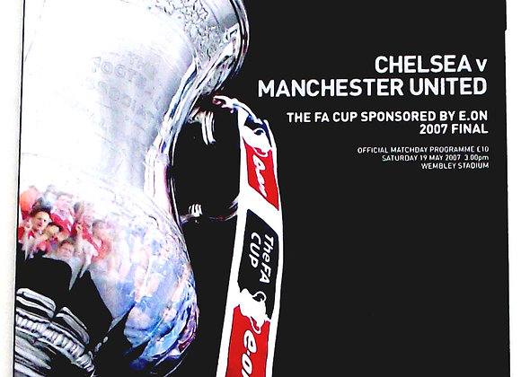 Chelsea F.C. v Manchester United F.C. FA Cup Final Football Programme 2007