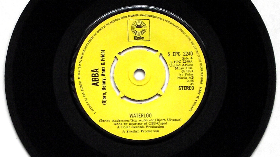 ABBA Waterloo Single Epic Label S EPC 2240 1974