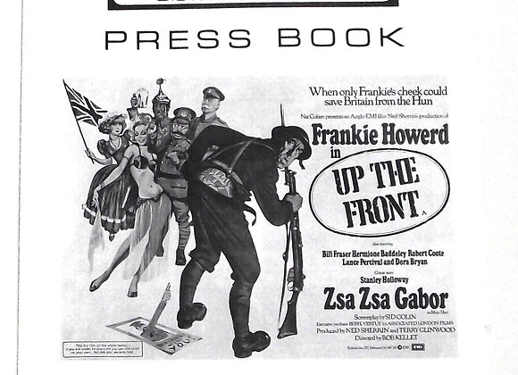Frankie Howerd Up The Front Film Press Book 1972