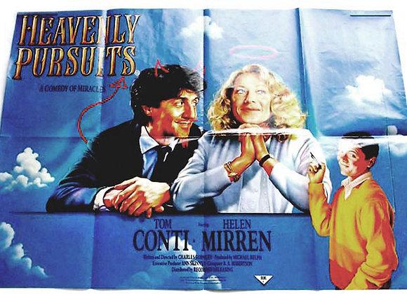 Heavenly Pursuits British Quad Film Poster 1986