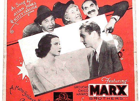 The Marx Brothers 'Alone' A Night At The Opera Rare Film Sheet Music 1935