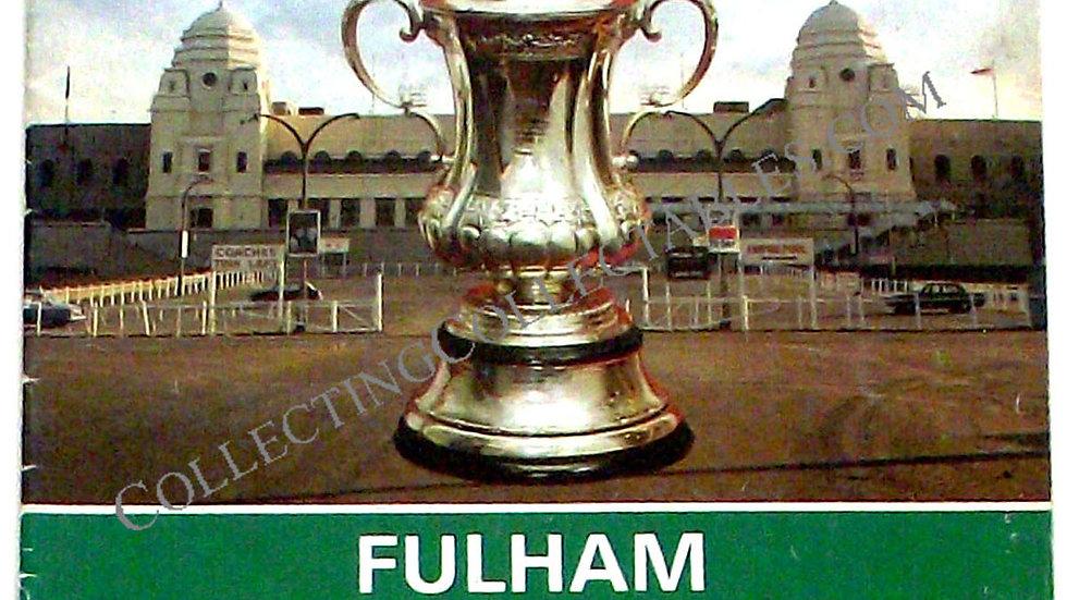 Fulham F.C. v West Ham United FA Cup Final Football Programme 1975