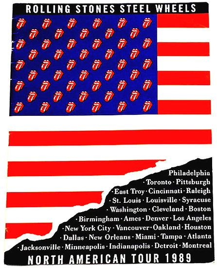 The Rolling Stones Concert Tour Programme Steel Wheels North America 1989