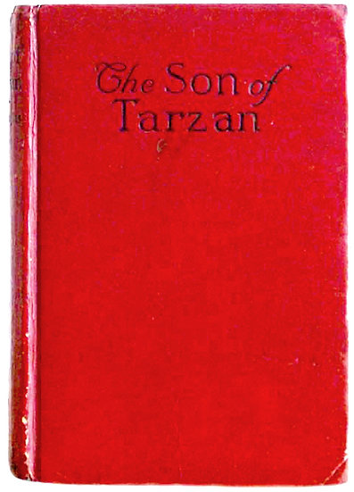Edgar Rice Burroughs Book The Son of Tarzan First Cheap Edition 1917 Front Board