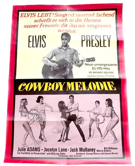 Elvis Presley Tickle Me German Poster 1965