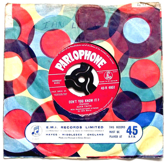 Adam Faith Don't You Know It & My Last Wish Single 1961