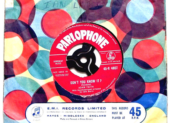 Adam Faith Don't You Know It & My Last Wish Single 1961