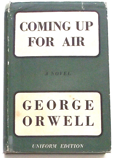 George Orwell Coming Up For Air Uniform Edition 1954