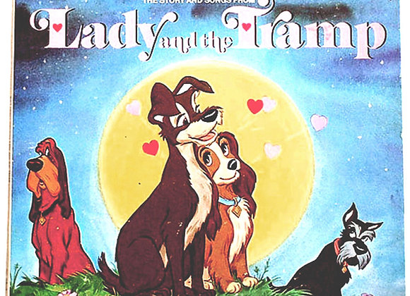 Walt Disney Lady and the Tramp US LP and Booklet 1969