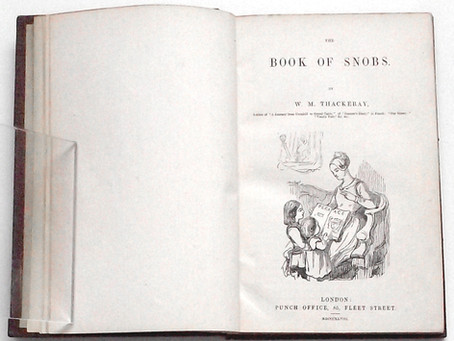 William Makepeace Thackeray The Book Of Snobs Rare First Edition 1848