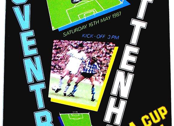Coventry City F.C. v Tottenham F.C. FA Cup Final Football Programme 1987