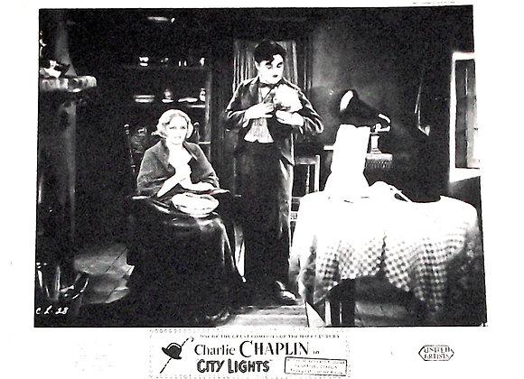 Charlie Chaplin City Lights Film Window Cards 1931