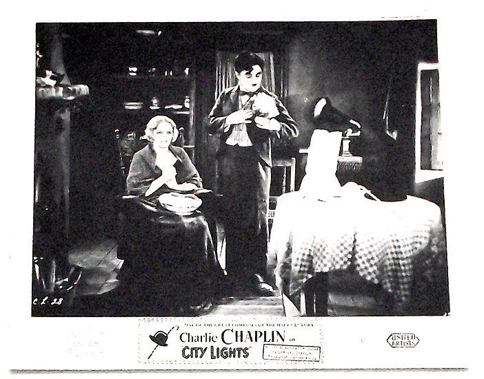 Charlie Chaplin City Lights Film Window Cards 1931