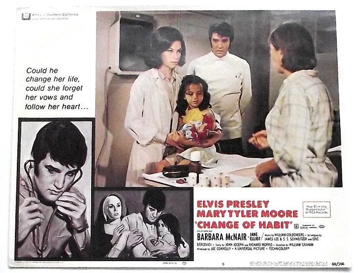 Elvis Presley Change of Habit Lobby Cards 1969