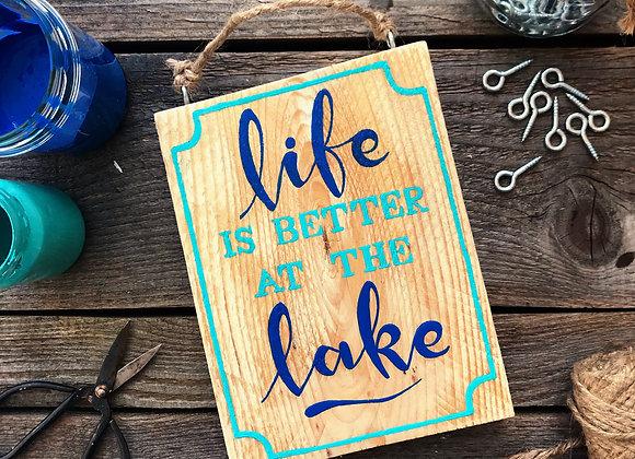 "Dekoschild ""Lake Life"""