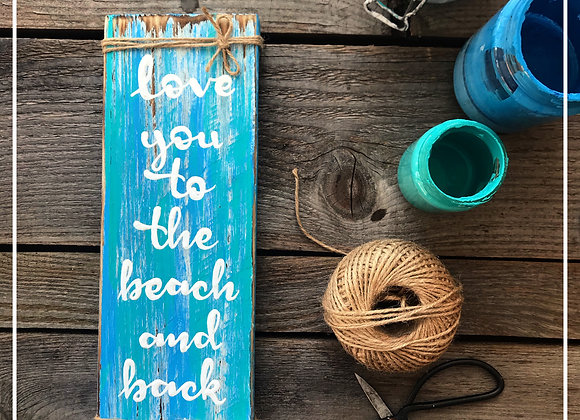 """Dekoschild """"Beach Love"""""""