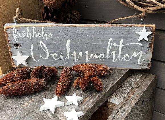 """Dekoschild """"fröhliche Weihnachten"""""""