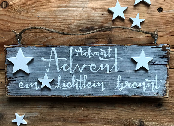 "Dekoschild ""Advent Advent"""