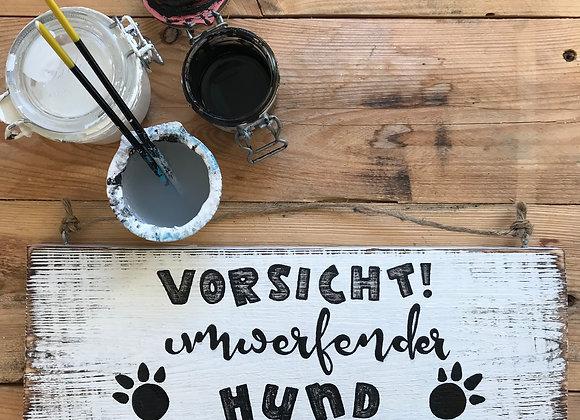"""Dekoschild """"Vorsicht Hund"""""""