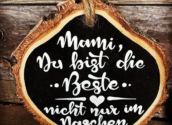 """Dekoschild """"Muttertag - Du bist die Beste"""""""