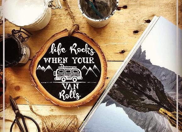 """Dekoschild """"Life Rocks - Van"""""""