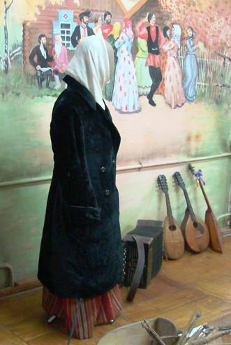 Длинное плисовое пальто, начало XX
