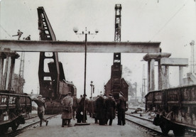Петушки. Строительство переходного ж.д. моста. 1958 г.