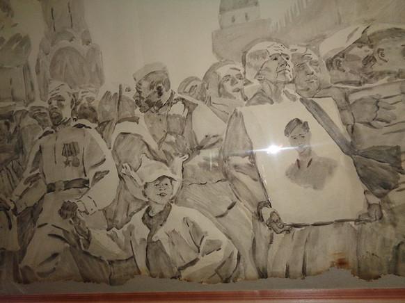Вечерский Ю.9 мая 1945. Память сердца.1973Бумага, акварель.60х85.